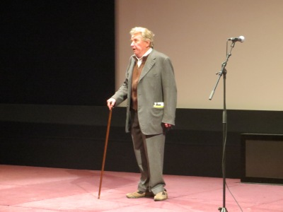 Jean-Marie Straub at the presentation of 'Kommunisten' at the Cinémathèque française