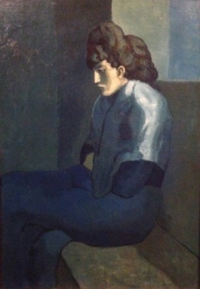 Woman with shawl or melancholy woman, Picasso